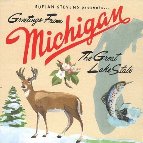 Sufjan,Stevens,–,Greetings,From,Michigan:,The,Great,Lake,State,2xLP,Sufjan Stevens, Greetings From Michigan: The Great Lake State, Asthmatic Kitty, LP, vinilo