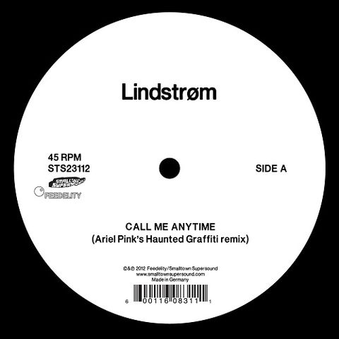 Lindstrøm,‎–,Call,Me,Any,Time,(Ariel,Pink's,Haunted,Graffiti,Remix),12, Call Me Any Time (Ariel Pink's Haunted Graffiti Remix), Smalltown Supersound, LP, vinyl
