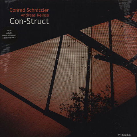 Conrad,Schnitzler,&,Andreas,Reihse,‎–,Con-Struct,LP,Conrad Schnitzler & Andreas Reihse, Con-Struct, M=Minimal, Vinyl, vinilo, comprar, twosteprecords, two step records, Two-Step Records