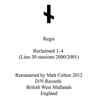 Regis,,Reclaimed,1-4,EP, Reclaimed 1-4, Downwards, vinilo, comprar, twosteprecords
