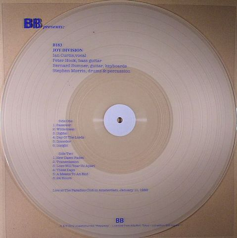 Joy,Division,‎–,Live,At,The,Paradiso,Club,,Amsterdam,1980,LP,Joy division, Live At The Paradiso Club, B13, vinyl, LP