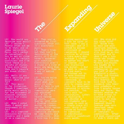 Laurie,Spiegel,,The,Expanding,Universe,LP,Laurie Spiegel, The Expanding Universe, Unseen Worlds, LP, vinyl