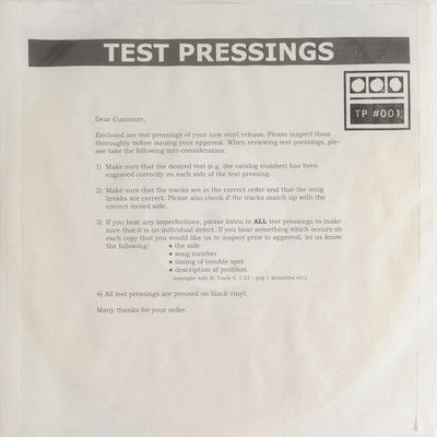 Demdike,Stare,,Testpressing,#001,EP,Demdike Stare, Testpressing #001, Modern Love, LP, vinyl
