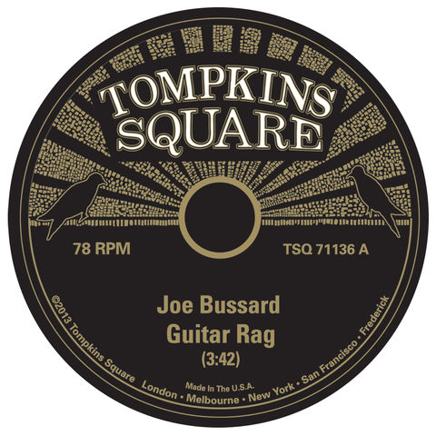 Joe,Bussard,‎–,Guitar,Rag,/,Screwdriver,10,(RSD,2013),Joe Bussard, Guitar Rag / Screwdriver, LP, vinyl, Tompkins Square
