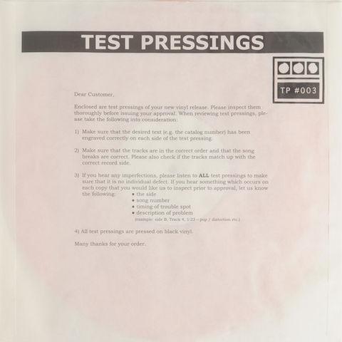 Demdike,Stare,–,Testpressing,#003,EP,Demdike Stare, Testpressing #003, Modern Love, LP, vinyl