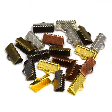 13mm,(1/2),Ribbon,Clamp,End,Crimps,13mm ribbon clamps, 1 2 ribbon clamps, ribbon clamps, ribbon crimps, ribbon ends, ribbon findings