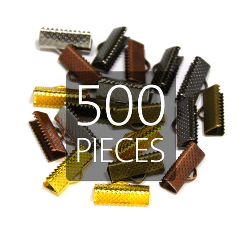 500pcs,16mm,(5/8),Ribbon,Clamp,End,Crimps,16mm ribbon clamps, 5 8 ribbon clamps, ribbon clamps, ribbon crimps, ribbon ends, ribbon findings, bulk ribbon clamps