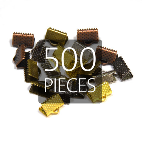 500pcs,10mm,(3/8),Ribbon,Clamp,End,Crimps,10mm ribbon clamps, 3 8 ribbon clamps, ribbon clamps, ribbon crimps, ribbon ends, ribbon findings, bulk ribbon clamps