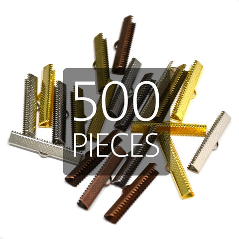 500pcs,35mm,(1,3/8),Ribbon,Clamp,End,Crimps,35mm ribbon clamps, 1 3 8 ribbon clamps, ribbon clamps, ribbon crimps, ribbon ends, ribbon findings, bulk ribbon clamps