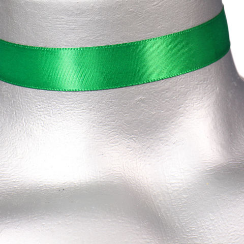 16mm,(5/8),Plain,Emerald,Green,Satin,Ribbon,Choker,Necklace,green satin choker, green choker, green ribbon choker, ribbon choker, satin choker, ribbon choker necklace