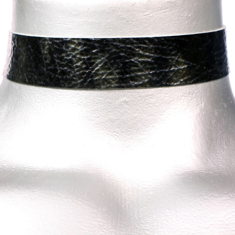 "20mm (3/4"") Shiny Black Storm Leather Choker Collar Necklace - product images  of"