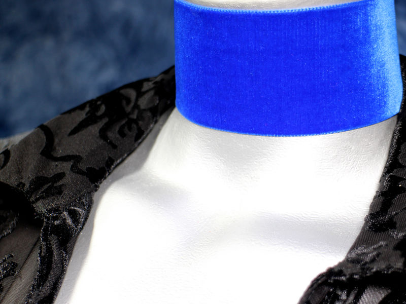 50mm 2 plain royal blue velvet ribbon choker necklace twilightsfancy. Black Bedroom Furniture Sets. Home Design Ideas