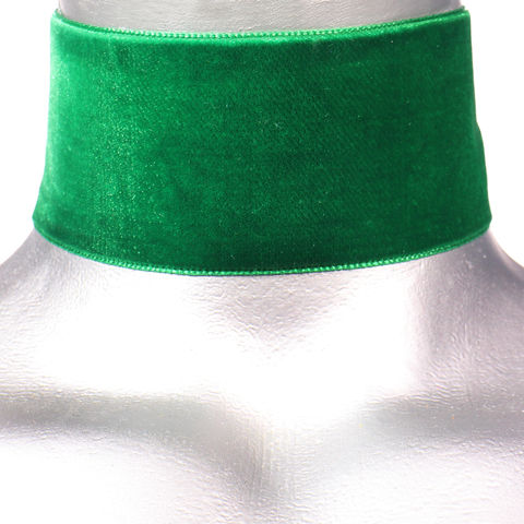 50mm,(2),Plain,Emerald,Green,Velvet,Ribbon,Choker,Necklace,green velvet choker, green choker, black ribbon choker, ribbon choker, velvet choker, ribbon choker necklace