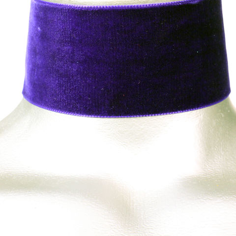 50mm,(2),Plain,Royal,Purple,Velvet,Ribbon,Choker,Necklace,purple velvet choker, purple choker, purple ribbon choker, ribbon choker, velvet choker, ribbon choker necklace
