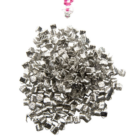 6mm,(1/4),-500pcs-,Platinum,Silver,Ribbon,Clamps,-,Artisan,Series,6mm ribbon clamps, 1/4 inch ribbon clamps, ribbon clamps, ribbon crimps, ribbon ends, ribbon findings, bulk ribbon clamps, crimps, crimp ends, 6mm