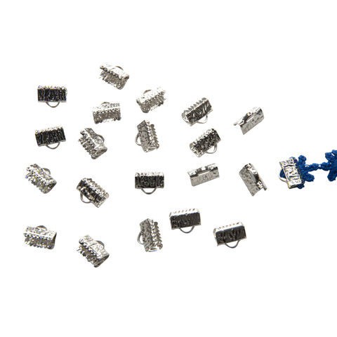 10mm,(3/8),-150pcs-,Platinum,Silver,Ribbon,Clamps,-,Artisan,Series,10mm ribbon clamps, 3/8 inch ribbon clamps, ribbon clamps, ribbon crimps, ribbon ends, ribbon findings, bulk ribbon clamps, crimps, crimp ends, 10mm
