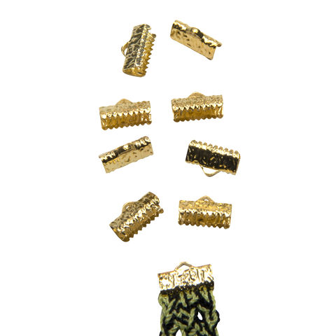 13mm,(1/2),-50,pcs-,Gold,Ribbon,Clamps,-,Artisan,Series,13mm ribbon clamps, 1/2 inch ribbon clamps, ribbon clamps, ribbon crimps, ribbon ends, ribbon findings, bulk ribbon clamps, crimps, crimp ends, 13mm