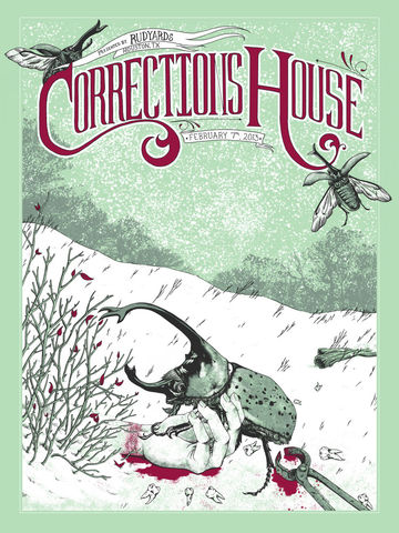 Hollow,Sleep,-,Corrections,House,screenprint, erica williams, illustration, corrections House, scott kelly, eyehategod, neurosis, rudyards, tx, houston, beetle, rhino, dead, hand, snow, metallic ink, screenprint, french paper
