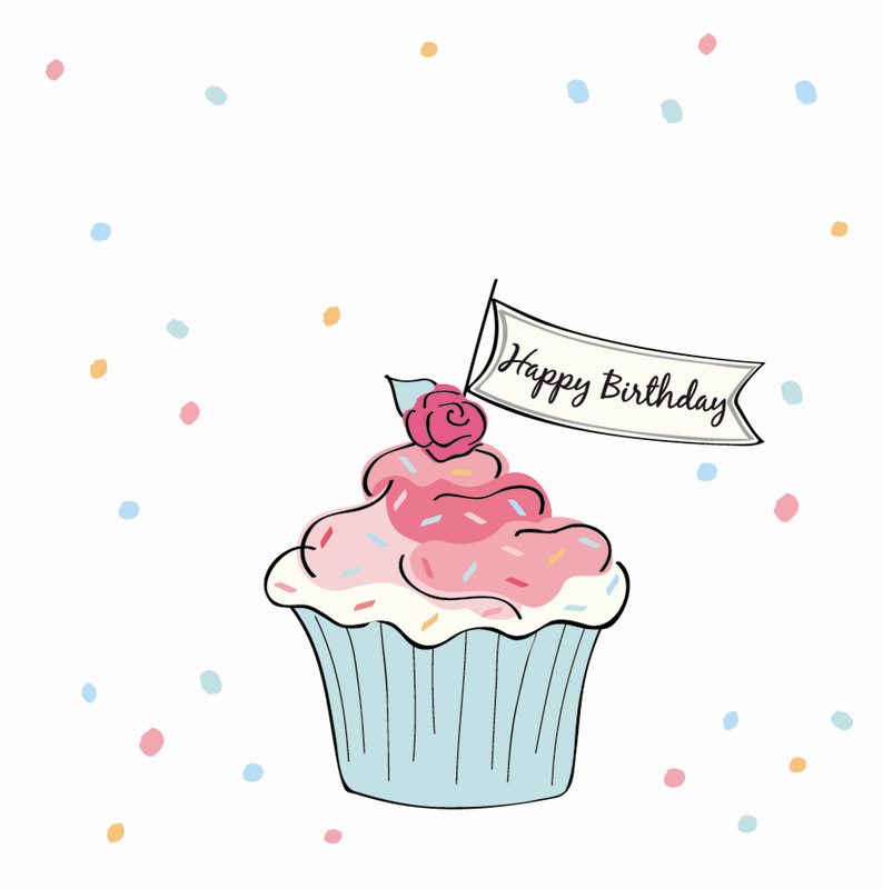 Silver Text Personalised Birthday Card
