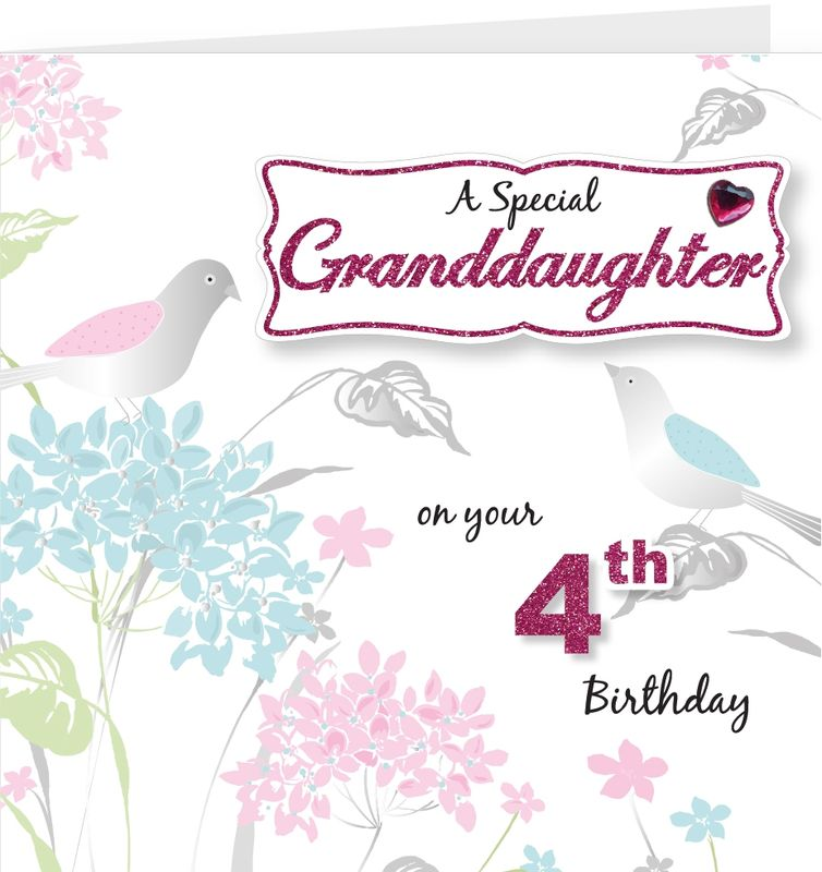 Granddaughter Birthday Card With Bespoke Age