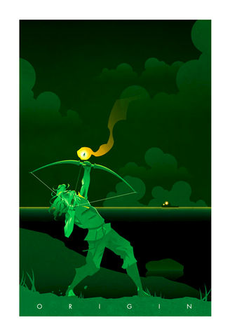 Island,green arrow, origin series, origin story, superhero, minimalist, design, pop culture art