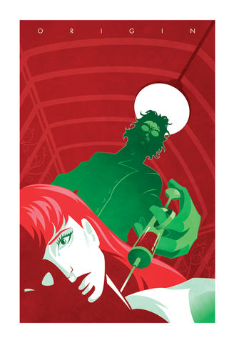 Bad,Seed,villain, girl villain, poison ivy, origin series, origin story, batman, minimalist, design, pop culture art