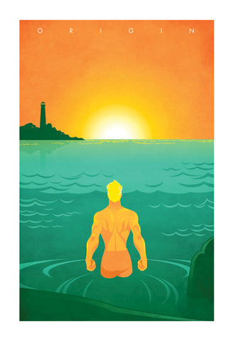 Homecoming,aquaman, homecoming, superhero, origin series, origin story, minimalist, design, pop culture art