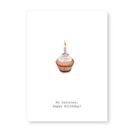 No,Calories,(Cupcake),Birthday,Greeting,Card,tokyo milk, birthday, card, greeting card