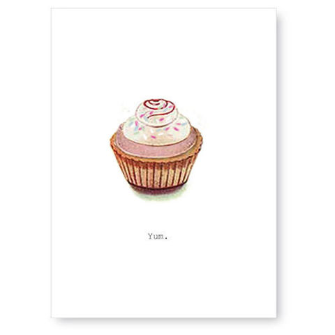 Yum,(Cupcake),Greeting,Card,cupcake, greeting card, tokyo milk