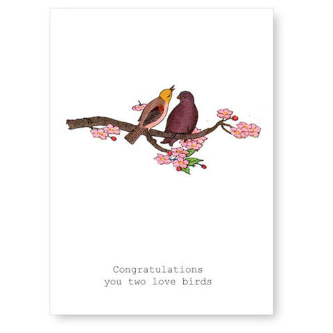 Congratulations,,You,Two,Love,Birds,Greeting,Card,wedding, tokyo milk, greeting card