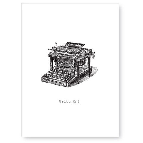 Write,On,(Typewriter),Greeting,Card,greeting card, tokyo milk