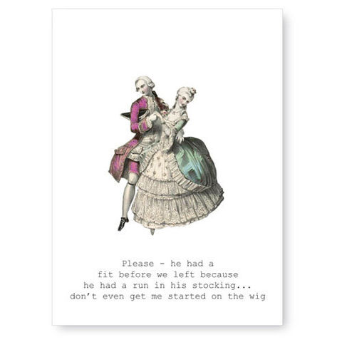 Please,-,He,Had,A,Fit,(Dancers),Greeting,Card,greeting card, funny, tokyo milk