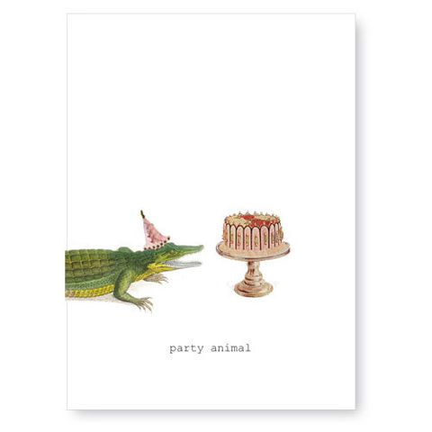 Party,Animal,(Alligator),Greeting,Card,birthday, greeting card, tokyo milk