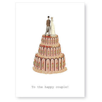 To,The,Happy,Couple,(Cake/Bride/Groom),Greeting,Card,wedding, greeting card, tokyo milk