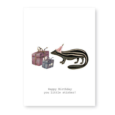 Happy,Birthday,You,Little,Stinker,(Skunk),Card,tokyo milk, greeting card