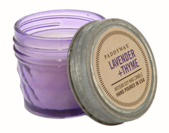 Lavender,+,Thyme,Mini,Jar,Candle,paddywax, relish, lavender