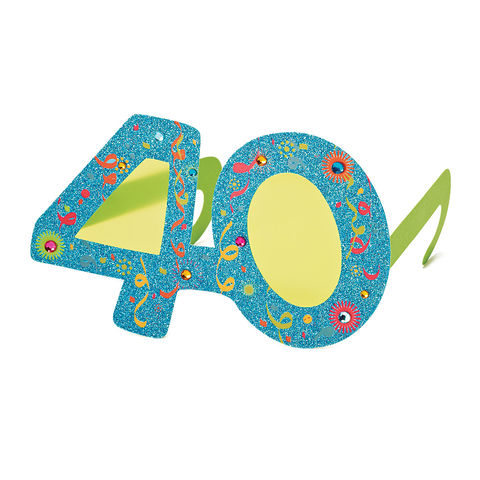 40th,Birthday,Glasses,papyrus, birthday, 40, forty, card, greeting, handmade, international, hong kong