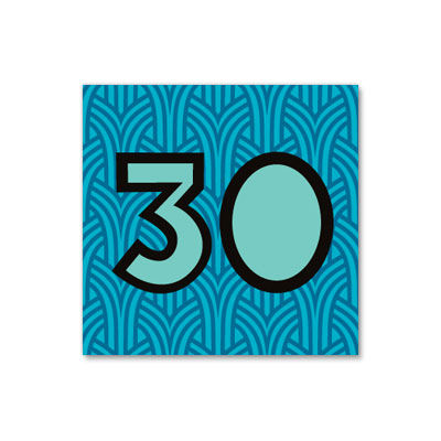 30th,Birthday,Cobalt,Cutout,papyrus, birthday