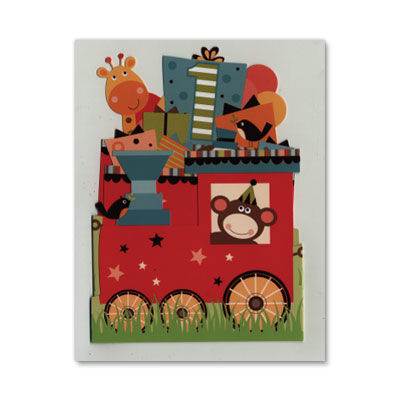 Age,1,Presents,Train,Tri-Fold,papyrus, birthday, handmade, greeting, card, international, hong kong
