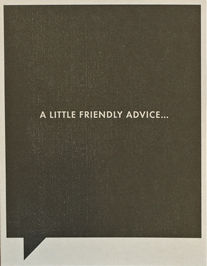 Friendly,Advice,Card,frank and funny, compendium, friendship