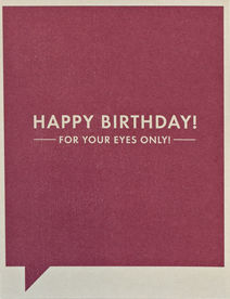For,Your,Eyes,Only,Card,frank and funny, compendium, birthday