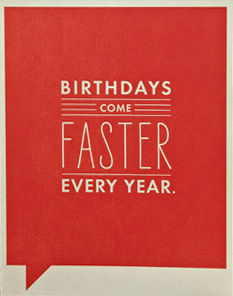 Faster,Card,frank and funny, compendium, birthday