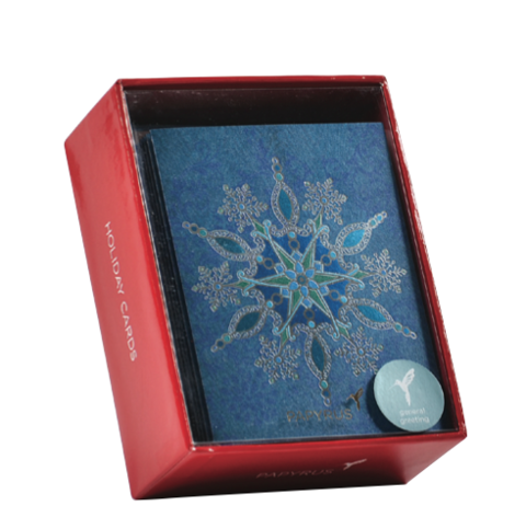 Blue,Snowflake,Box,Set,papyrus, handmade, christmas, box, cards, stationery, international, hong kong