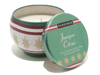 Juniper,Citrus,Decorative,Tin,Candle,paddywax, candle, candles, juniper citrus, soy wax, handmade, gift, holiday, christmas