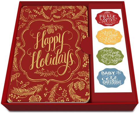 Happy,Holidays,Gold,Christmas,Box,Set,studio oh, christmas, box set, cards, gold