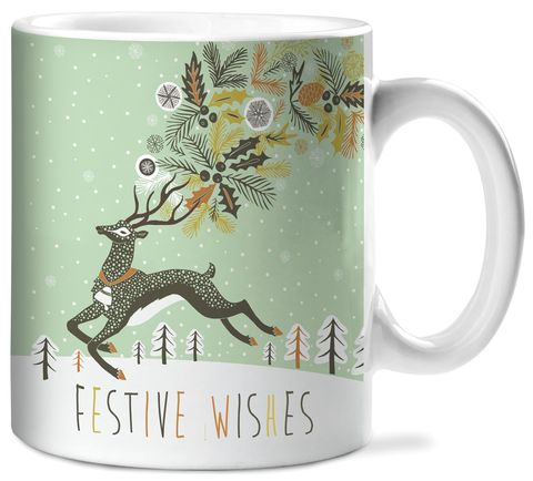 Festive,Wishes,Ceramic,Mug,studio oh, christmas, holiday, ceramic mug