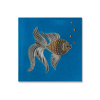 Gemmed,Fish,papyrus, fish, birthday, handmade, card, international, hong kong
