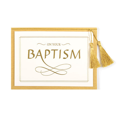 Lettering,(Baptism),papyrus, baptism, handmade, greeting card, international, hong kong