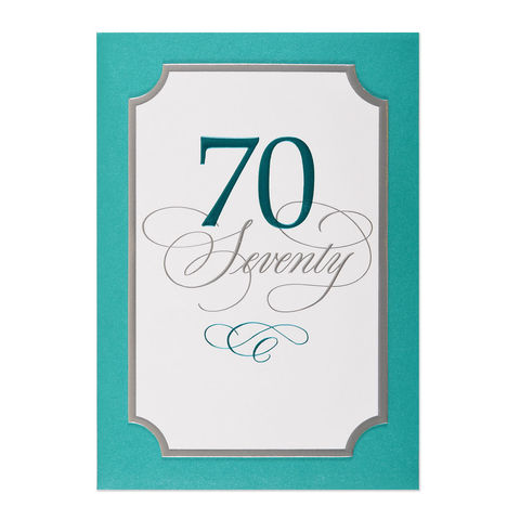 70th,Birthday,papyrus, birthday, 70th, handmade, greeting card, international, hong kong