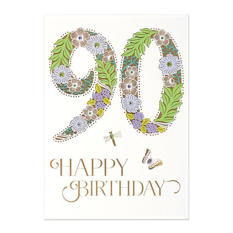 90th,Birthday,papyrus, 90th, birthday, handmade, greeting card, international, hong kong, 90, ninety